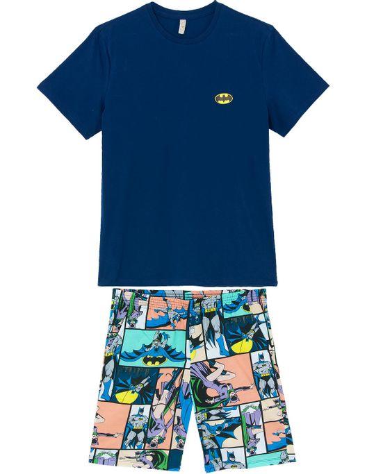 Pijama-Curto-Masculino-Acuo-Algodao-Batman
