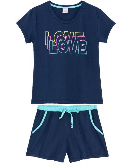Pijama-Feminino-Curto-Lua-Encantada-Algodao-Love
