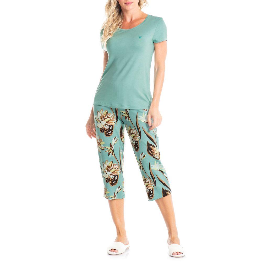 Pijama-Capri-Daniela-Tombini-Viscolycra-Floral