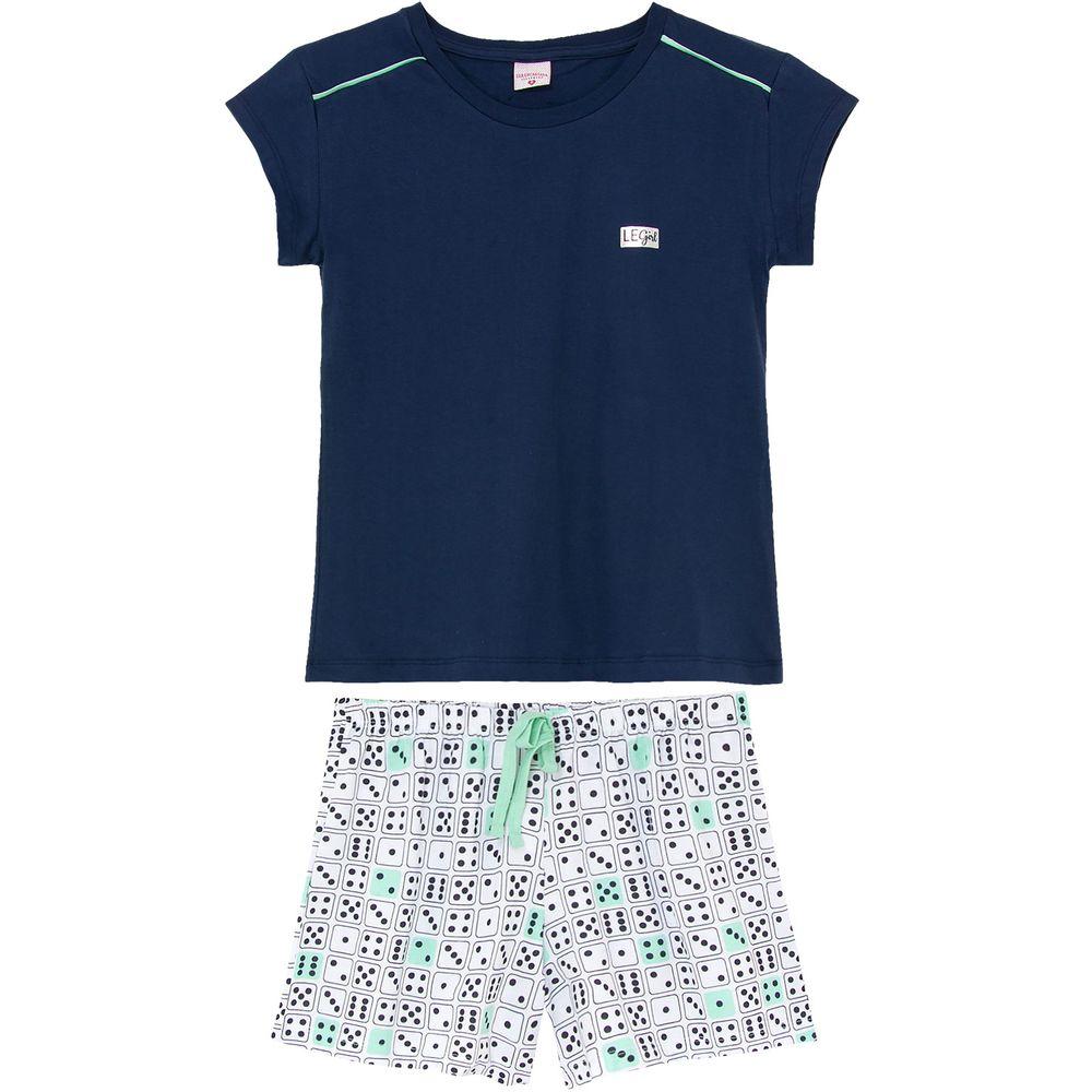 Pijama-Feminino-Curto-Lua-Encantada-Algodao-Domino