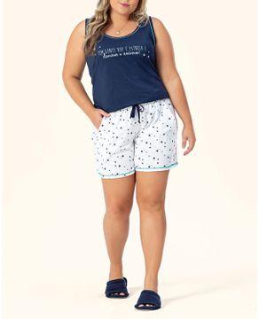 Pijama-Plus-Size-Feminino-Lua-Encantada-Regata-Estrelas