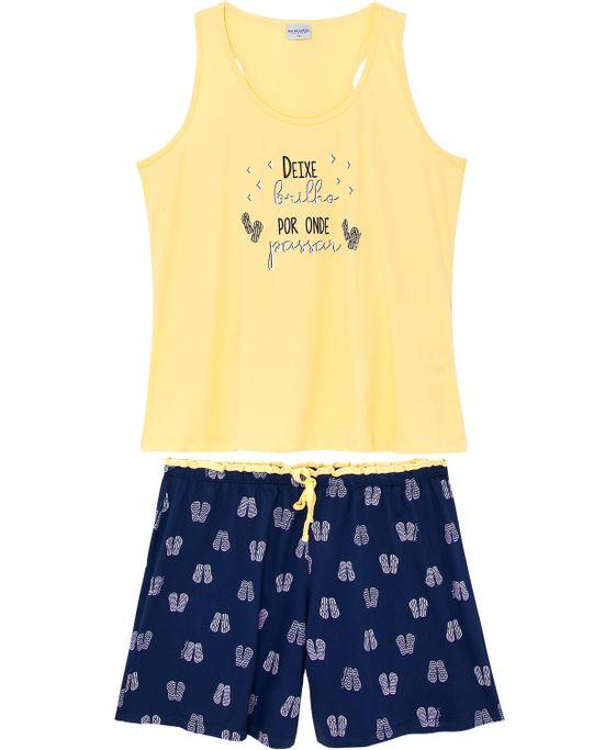 Pijama-Plus-Size-Feminino-Lua-Encantada-Regata-Chinelos