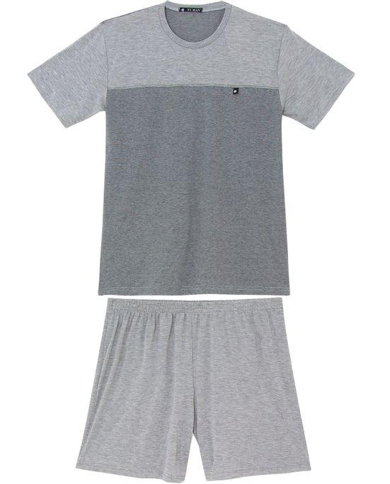 Pijama-Masculino-Toque-Recortes-Mescla-Fio-Tinto