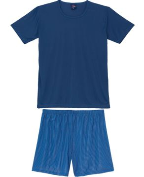 Pijama-Masculino-Toque-Microfibra-Bermuda-Listras