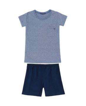 Pijama-Infantil-Masculino-Toque-Algodao-Mescla-Bolso