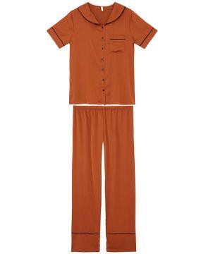 Pijama-Feminino-Aberto-Cetim-Joge-Manga-Curta-Calca