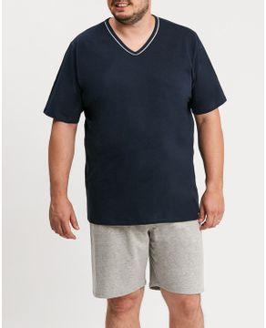 Pijama-Plus-Size-Masculino-Recco-Algodao-Vies-Gola