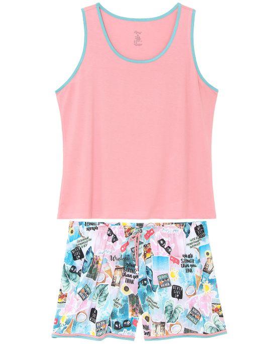 Pijama-Plus-Size-Feminino-Recco-Regata-Short-Verao