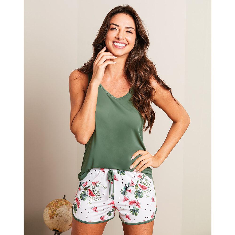 Pijama-Feminino-Recco-Regata-Microfibra-Melancia