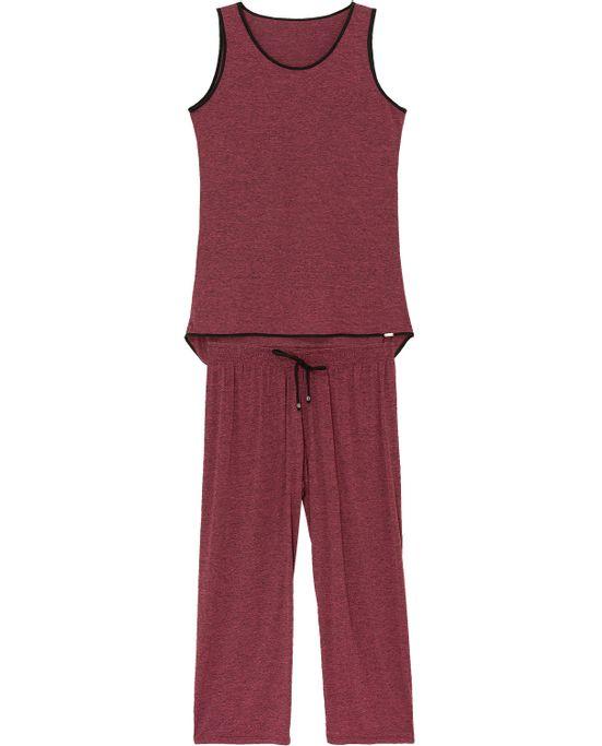 Pijama-Capri-Regata-Recco-Microdry-Mescla
