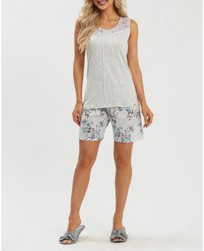 Pijama-Feminino-Recco-Regata-Renda-Short-Floral