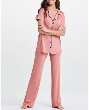 Pijama-Feminino-Aberto-Joge-Viscolycra-Manga-Curta