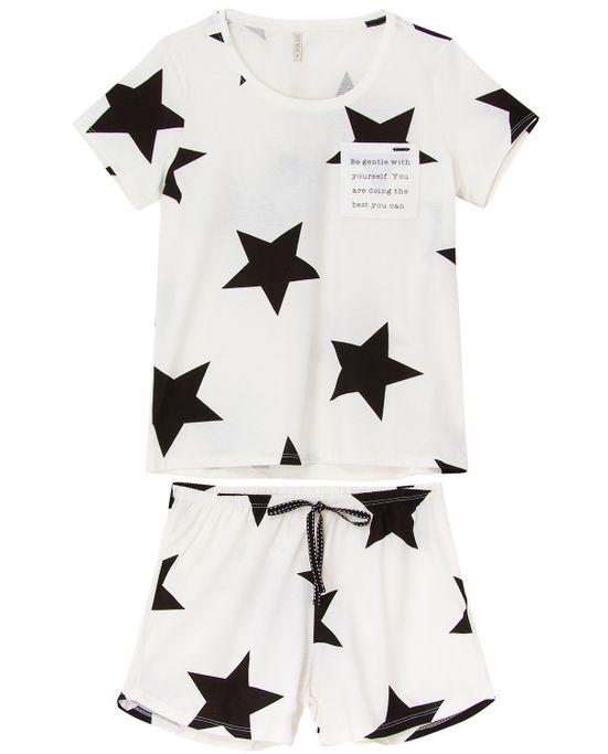 Pijama-Feminino-Curto-Lua-Lua-Mercerizada-Estrelas