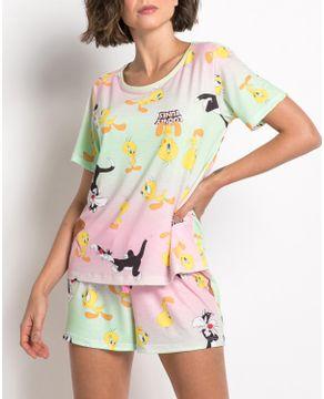 Pijama-Feminino-Curto-Acuo-Viscolycra-Piu-Piu-e-Frajola