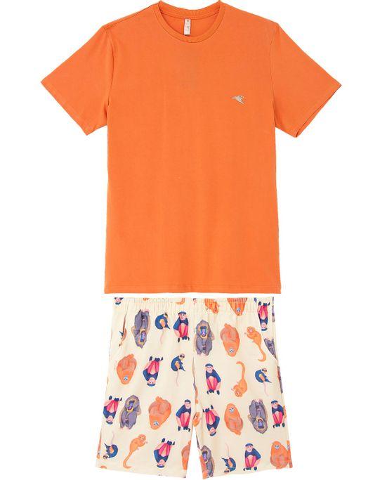 Pijama-Masculino-Curto-Acuo-100--Algodao-Macacos