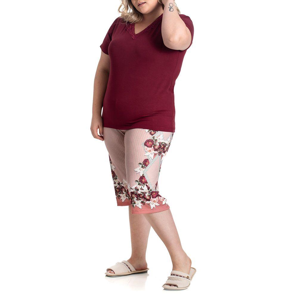 Pijama-Plus-Size-Capri-Toque-Viscolycra-Poliplex-Lenco