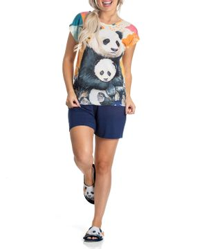 Pijama-Feminino-Curto-Toque-Poliplex-Viscolycra-Pandas