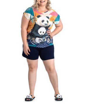 Pijama-Plus-Size-Feminino-Curto-Toque-Viscolycra-Pandas