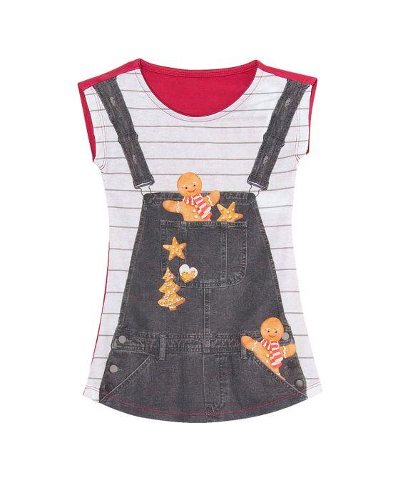Camisola-Infantil-Recco-Viscolycra-Biscoito-de-Natal