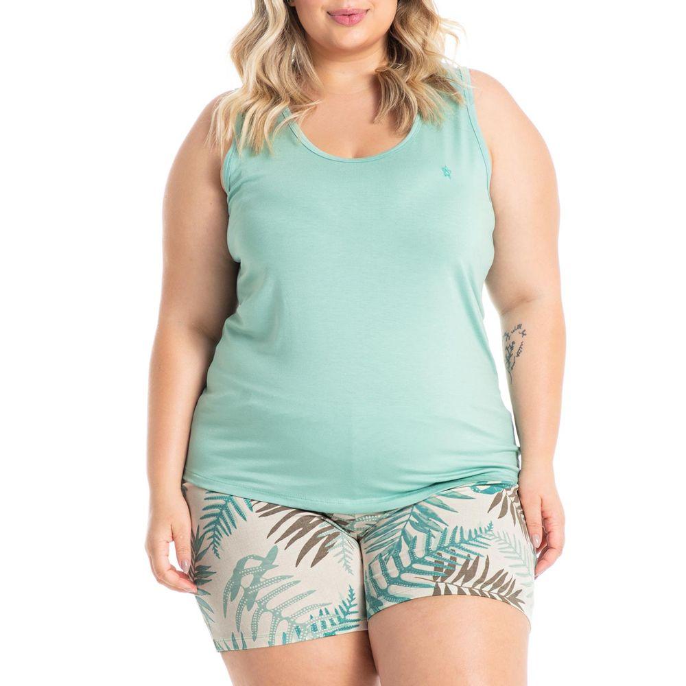 Pijama-Plus-Size-Daniela-Tombini-Viscolycra-Floral