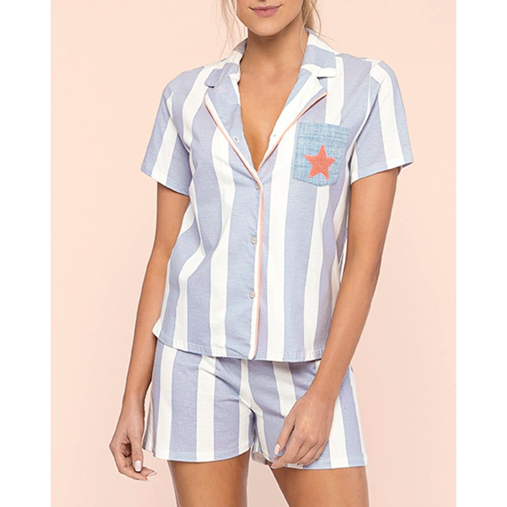 Pijama-Feminino-Aberto-Lua-Lua-Mercerizada-Listras