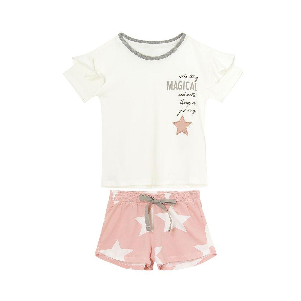 Pijama-Infantil-Feminino-Lua-Lua-Cotton-Manga-Babado