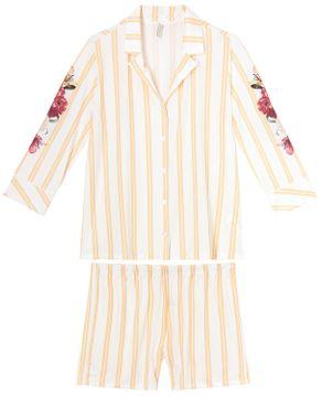 Pijama-Feminino-Aberto-Lua-Lua-Microfibra-Listras-Floral
