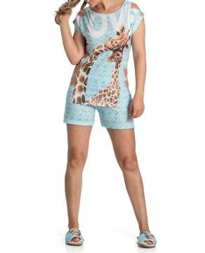Pijama-Feminino-Curto-Toque-Viscolycra-Girafas