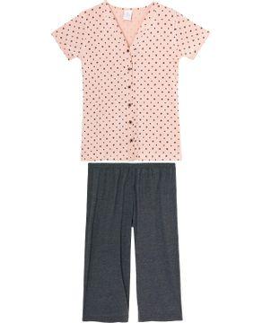 Pijama-Capri-Aberto-Botoes-Toque-Viscolycra-Poa