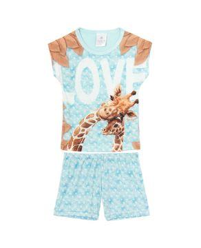 Pijama-Infantil-Feminino-Toque-Viscolycra-Girafas