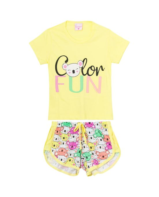 Shortdoll-Infantil-Lua-Encantada-Algodao-Coalas-Color-Fun