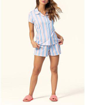 Pijama-Feminino-Aberto-Lua-Encantada-Algodao-Listras