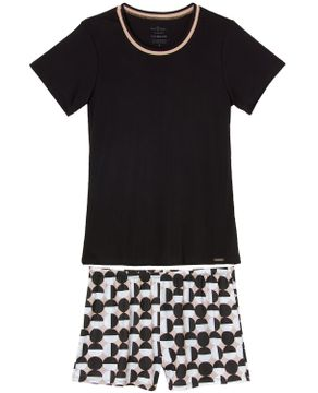 Pijama-Feminino-Daniela-Tombini-Microfibra-Geometrico