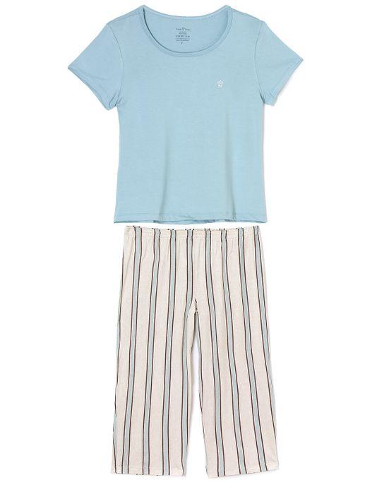 Pijama-Daniela-Tombini-Viscolycra-Calca-Capri-Listras