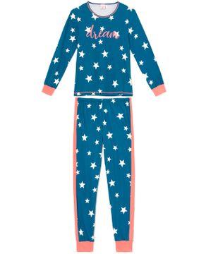 Pijama-Feminino-Lua-Encantada-100--Algodao-Estrelas