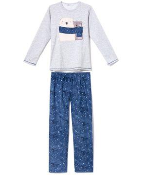 Pijama-Feminino-Moletinho-Flanelado-Lua-Cheia-Ursos