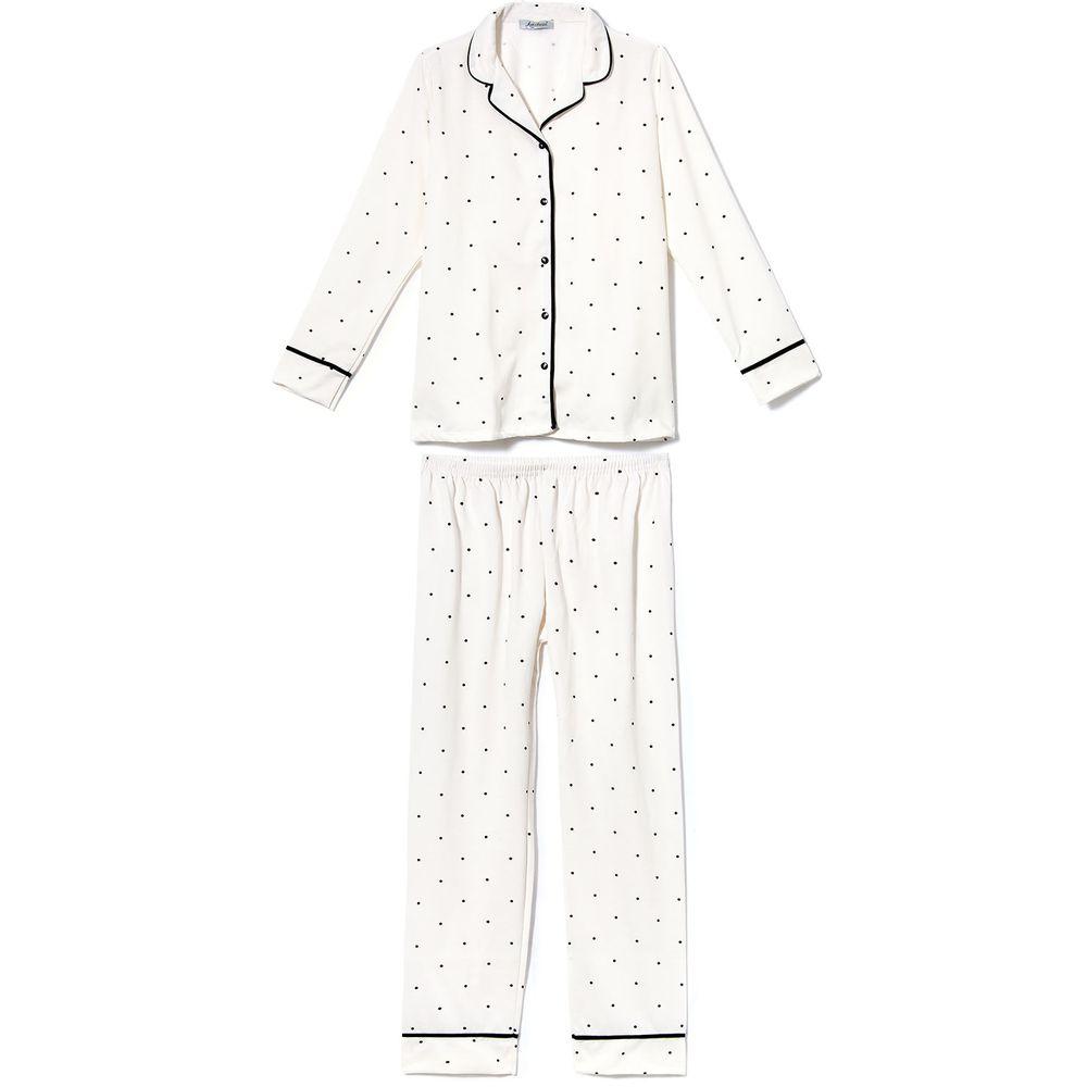 Pijama-Feminino-Aberto-Flanelado-Lua-Cheia-Poa