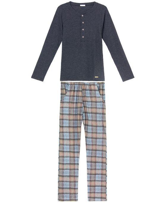 Pijama-Feminino-Toque-Ribana-Calca-Xadrez