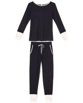Pijama-Feminino-Longo-Joge-Viscolycra-Maxi-Punhos