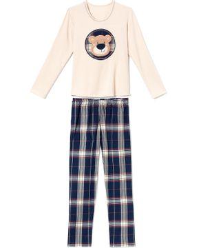 Pijama-Feminino-Recco-Moletinho-Flanelado-Urso