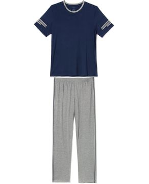 Pijama-Masculino-Manga-Curta-Calca-Recco-Visco-Stretch