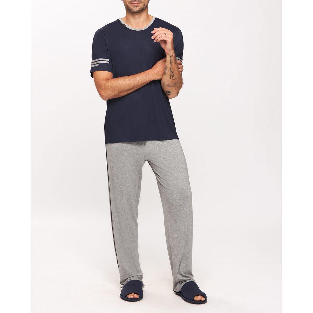 Pijama-Masculino-Manga-Curta-Calca-Recco-Visco-Stretch