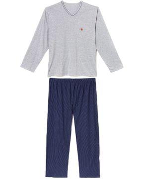 Pijama-Plus-Size-Masculino-Recco-Algodao-Calca-Listras