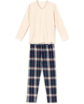 Pijama-Masculino-Recco-Moletinho-Flanelado-Xadrez