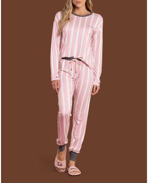 Pijama-Feminino-Lua-Lua-Malha-Mercerizada-Listras