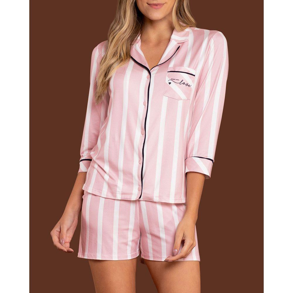 Pijama-Americano-Lua-Lua-Mercerizada-Shorts-Listras