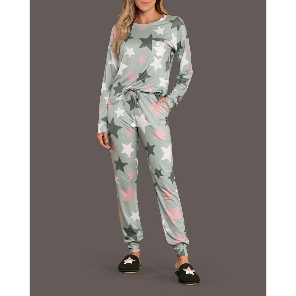 Pijama-Feminino-Longo-Lua-Lua-Sublime-Touch-Estrelas