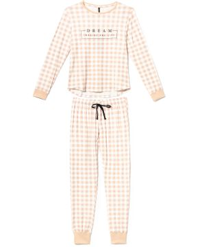 Pijama-Feminino-Longo-Lua-Lua-Sublime-Touch-Xadrez