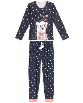 Pijama-Feminino-Recco-Visco-Dry-Urso-Polar