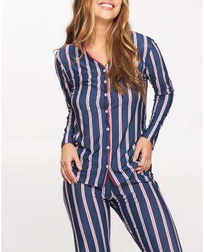 Pijama-Feminino-Recco-Aberto-Supermicro-Listras